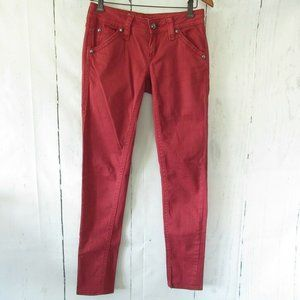 Rock Revival Jeans 27 Red Holly Skinny Distressed
